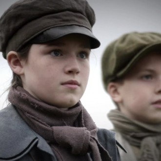 Eilidh Macphee as Alison Brook and Seoras Cuthbert as Oliver in episode 4 of Small Hands in a Big War (© Looks Film & TV).