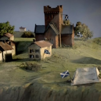 Scale model in episode 4 of Small Hands in a Big War (© Looks Film & TV).