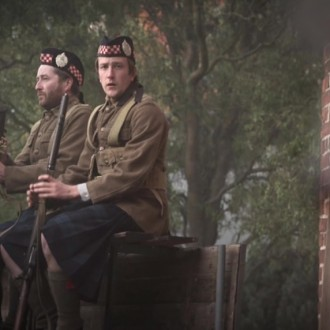 Scottish soldiers in episode 4 of Small Hands in a Big War (© Looks Film & TV).