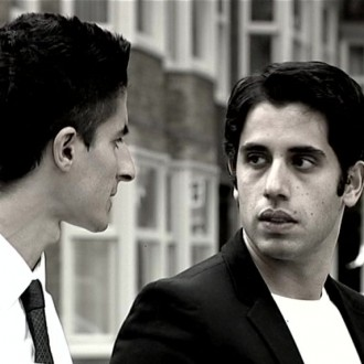 Soner Keskin as Said and Ali Wishka as Rachid in the film Reconstruction for the 48 Hour Film Project 2010 Amsterdam.
