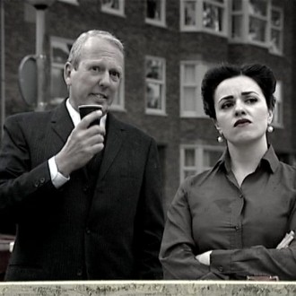 Willem van Dinteren as police sergeant Hans and Katarina Justic as public prosecutor in the film Reconstruction for the 48 Hour Film Project 2010 Amsterdam.