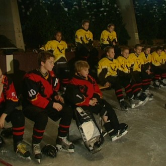 IJshockeyers in aflevering 11 van Sportlets (© Workout Factory BV)