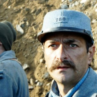 Mikal Fitoussi as Louis Barthas in the documentary series 14 Diaries of World War One (© Looks Film & TV)