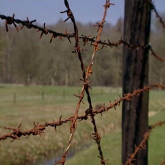 Het prikkeldraad van kamp Westerbord in aflevering 8 van 13 in de oorlog (© NTR)