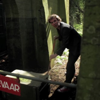 Siebe Meijer op het Hembrugterrein (© Stichting HollandRoute)