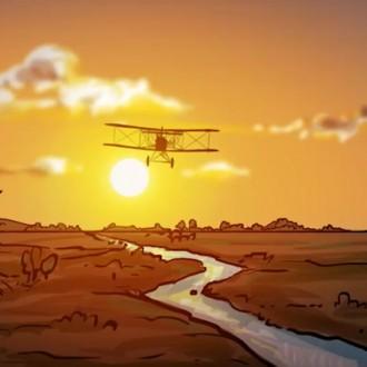 De vliegende helden, missie 2 van Kleine Stappen in een grote oorlog (© NTR, Submarine, Ivan Petrus Adriaenssens)