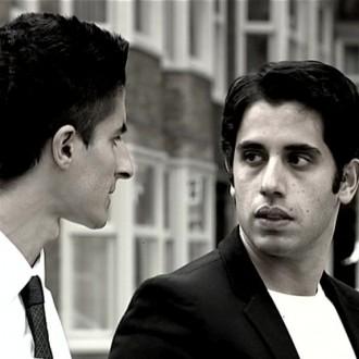 Soner Keskin als Said en Ali Wishka als Rachid in de film Reconstructie voor het 48 Hour Film Project 2010 Amsterdam