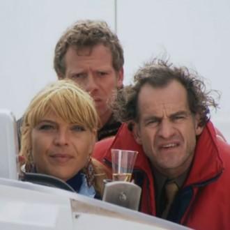 Medina Schuurman als Donna de la Fuentera, Pim Veth als Stefan Wouters en Marcel Faber als Walter Hofstede in aflevering 74 van Rozengeur & Wodka Lime (© Endemol Nederland)