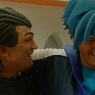 Joris Putman als Rudy Rude en Nick Fleuren als Strongo in aflevering 7 van Sportlets (© Workout Factory BV)