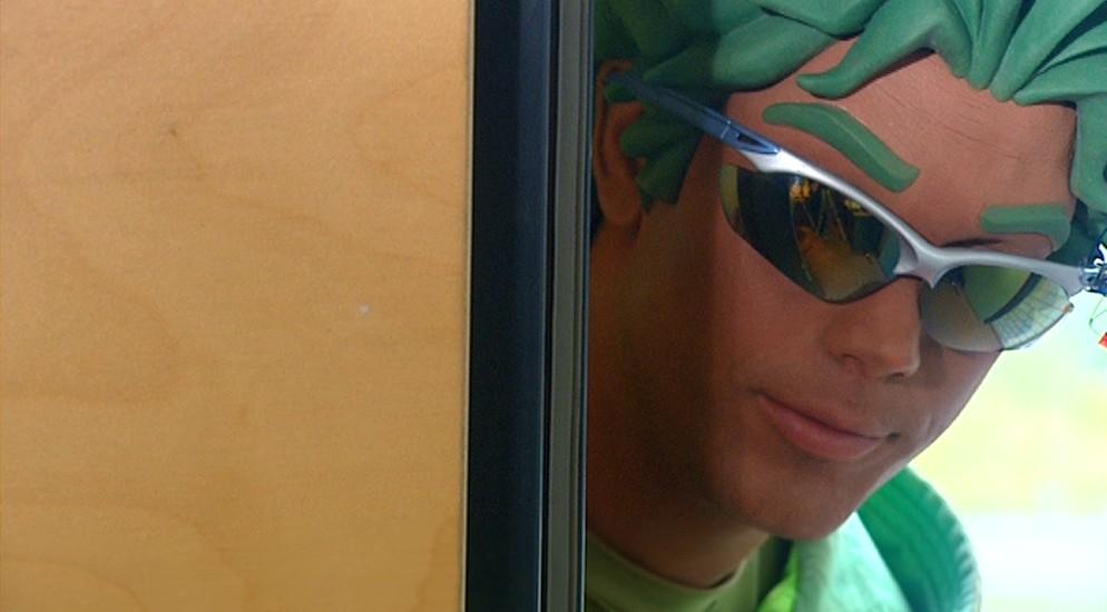 Miro Kloosterman als Ballistico in aflevering 10 van Sportlets (© Workout Factory BV)